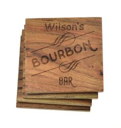 personalized home bar coasters bourbon bar set of 4 wedding coasters christmas gift customizable