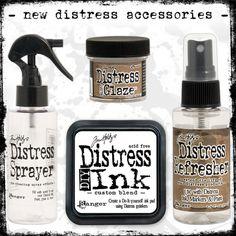 Tim Hlotz' new distressaccessories - DIY Distress Ink Pad - Distress Sprayer - Distress Refresher - Distress Micro Glaze™