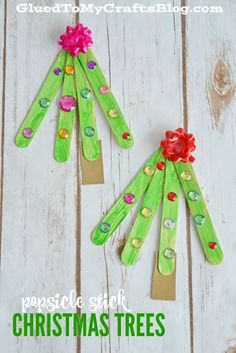 Popsicle Stick Christmas Tree - Kid Craft