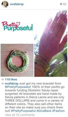 Thanks Eva for your support of #PrettyPurposeful! #PrettyPurposefulAfricaCollection