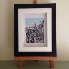 Items similar to Ilkley Church Street Yorkshire framed print on Etsy Sketches Of Love, Glass Boxes, One Design, Box Frames, Poet, Yorkshire, Christmas Ideas, My Etsy Shop, Framed Prints