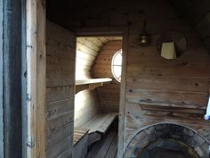 Saunas — The Rustic Way Rustic Saunas, Traditional Saunas, Outdoor Sauna, Crazy Houses, Cottage In The Woods, Building Design, Inventions, Tiny House, Outdoor Living