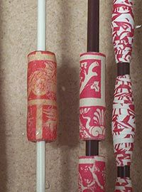 how to make pretty paper beads w/ embellishments *including UTEE epoxy coat*