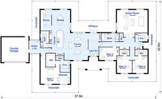 Large Family House Floor Plans