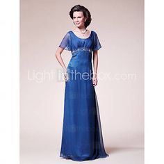 [USD $ 149.99] A-line Scoop Floor-length Chiffon Mother of the Bride Dress