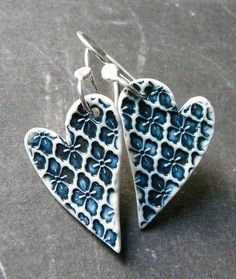 You Have My Heart - Porcelain Earrings by RoundRabbit, via Flickr