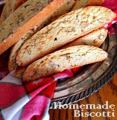How To Make Delicious Homemade Biscotti: It's So Easy! makes great gifts too!