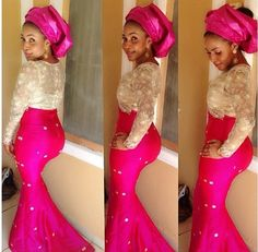 What word in the dictionary can we use to describe all theses tantalizing Aso-Ebi styles? One of our favorite posts is Aso-Ebi, we always look forward to posting the amazingly… African Dresses For Women, African Attire, African Wear, African Fashion Dresses, African Women, Nigerian Fashion, Ghanaian Fashion, African Beauty, Nigerian Traditional Attire