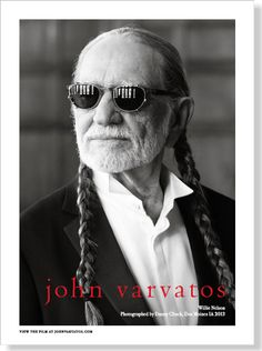 Willie Nelson for John Varvatos. Clipped from Esquire using Netpage.