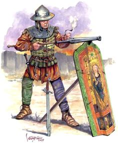 Mercenary gunner in Vlad's army, 15th Centruy - illustration by Catalin Draghici for Historia magazine nr. 220 History Of Romania, Early Modern Period, Late Middle Ages, Knight Armor, Suit Of Armor, Ottoman Empire, 15th Century, Eastern Europe, Military History