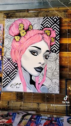 """Nyane"" Original Painting on Canvas 4' x 3' – Gray Gardens Design"