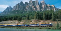 Canada's Rocky Mountaineer train offers a variety of routes, but the trip from Banff to Vancouver journey offers the most stunning scenery. Vancouver, Rocky Mountains, The Places Youll Go, Places To See, Rocky Mountaineer Train, Train Vacations, Amsterdam, Slow Travel, Train Rides