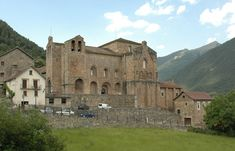 Abbey of San Pedro de Siresa located in Valle de Hecho, province of Huesca, Aragon, Spain.  García Sánchez I of Pamplona (Mike's 33rd gg) mentioned in charter dated 9 March 933.