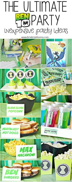 Host the ultimate BEN 10 party with inexpensive party ideas for your BEN 10 fan. Party includes activities, decorations, food and free printables! #ad