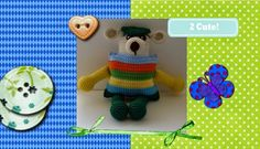 Funmigurumi Stripers: Chay Chay A free crochet pattern of a bear dressed in stripers and wearing a beret. #freeamigurumipatterns #freecrochetamigurumipatterns #funmigurumi