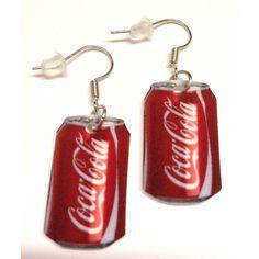 Aros colgantes, Coca-Cola.