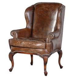 New Classic Leather Wing Chair