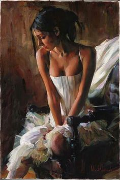 A moment of Silence a Garmash Original Painting available from J Watson Fine Art 661 your source for beautiful Michael and Inessa Garmash original paintings and limited edition artwork. Woman Painting, Figure Painting, Painting & Drawing, Beautiful Paintings, Female Art, Amazing Art, Fantasy Art, Cool Art, Art Photography