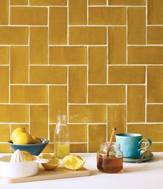 The colors are pure magic...plus, a great alternative to subway tile #subwaytile #tiles #kitchendesignideas