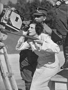 Leni Riefenstahl Directing - I guess one of the most controversial film maker lady of all times...