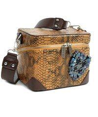 Doca hnědá kabelka s motivem hadí kůže Bags, Handbags, Bag, Totes, Hand Bags