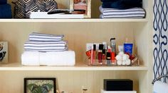 Ideas For Bathroom Vanity Ideas Small Linen Closets Small Bathroom Cabinets, Bathroom Sink Storage, Bathroom Storage Solutions, Bathroom Cabinet Organization, Wall Storage, Closet Storage, Storage Ideas, Bathroom Small, Small Cabinet