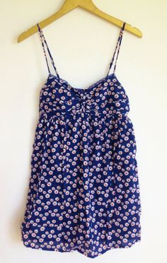 Navy Blue Floral Dress from Forever 21 Size SM
