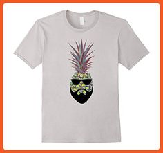 c0d44c32e Mens The Bad Ass Pineapple Shirt - Funny cool beard Pineapple 2XL Silver - Funny  shirts