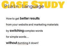Case study on plain language edits