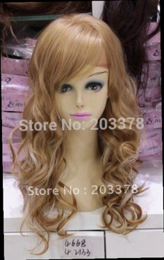48.99$  Buy now - http://ali6g4.worldwells.pw/go.php?t=632449933 - New arrivals Long Wavy Blonde Mix 22-24 inch Synthetic front lace wig with bangs free shipping 48.99$