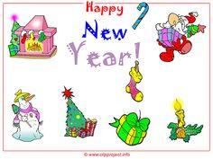 Hintergrundbild Weihnachten und Neujahr Cliparts