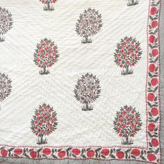 Organic and Hand Block Printed Textiles and Homewares Textile Patterns, Textile Prints, Textiles, Crochet Waffle Stitch, Hydrangea Flower, Flowers, Embroidered Bedding, Linen Bedding, Bed Linen