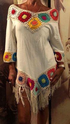 LucrusoareHandmade's media content and analytics Diy Crochet And Knitting, Crochet Shirt, Crochet Woman, Crochet Videos, Crochet Clothes, Crochet Lace, Crochet Bikini, Granny Square Crochet Pattern, Boho