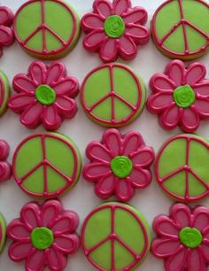 Daisy/Peace Sign Cookies