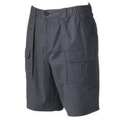 Men's Croft & Barrow® Relaxed-Fit Side-Elastic Cargo Shorts, Size: 35, Dark Grey