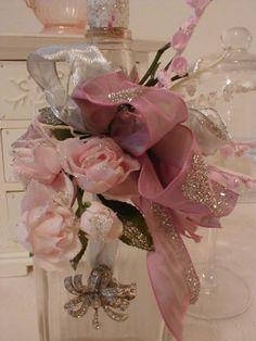 Vintage Bottle Embelished with Florals & more..