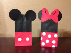Mickey Mouse Minnie Mouse Disney Favor Treat Bags