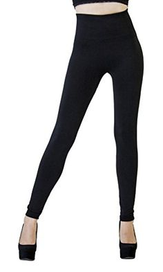 DK Monarchy Womens Seamless Full Length Thick Fleece Leggings BlackCompression Waist 012 >>> Check out this great product. (Note:Amazon affiliate link)