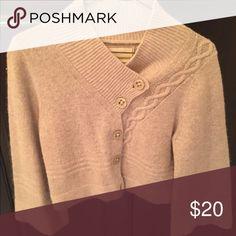 Sweater Khaki angora long sleeved sweater Guinevere Sweaters Cardigans
