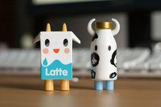 Latte, milk, tokidoki, vinyl toys