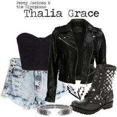Designer Clothes, Shoes & Bags for Women Edgy Outfits, Modern Outfits, Fashion Outfits, Fashion Clothes, Summer Outfits, Percy Jackson Outfits, Disney Inspired Fashion, Inspired Outfits, Thalia Grace