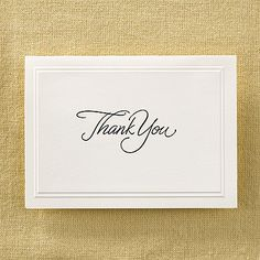 Regal In Gold  Thank You Card With Verse And Envelope  Thank You