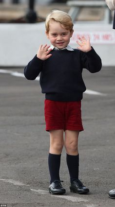 It is rare to see Prince George wearing anything other than shorts and one etiquette expert says it's all because the Duchess of Cambridge doesn't want to be considered suburban