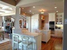 Cream Cabinets Dark Wood Floors Love Off White Cabinets With