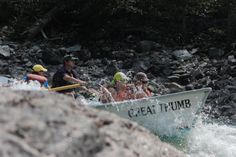 Trevor Case guides the Great Thumb through Ludwig rapid on the Salmon River, Idaho