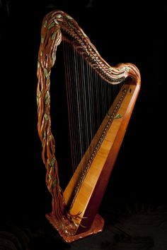 Glenn J. Hill, makes custom harps in Southern Oregon.