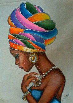 My African roots. Black Girl Art, Black Women Art, Art Girl, African American Artwork, American Artists, African Artwork, African Quilts, Afrique Art, African Art Paintings