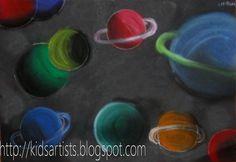 Kids Artists: Pastel planets