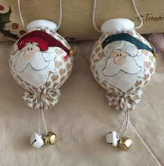 Palle Babbo Natale 🎄  (cart. Country Creations di Federica)