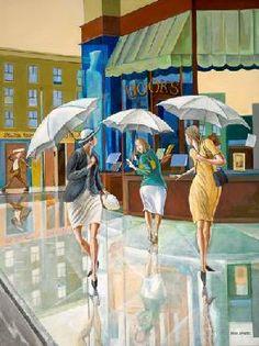 """Parting Ways"" by Ernie Barnes"